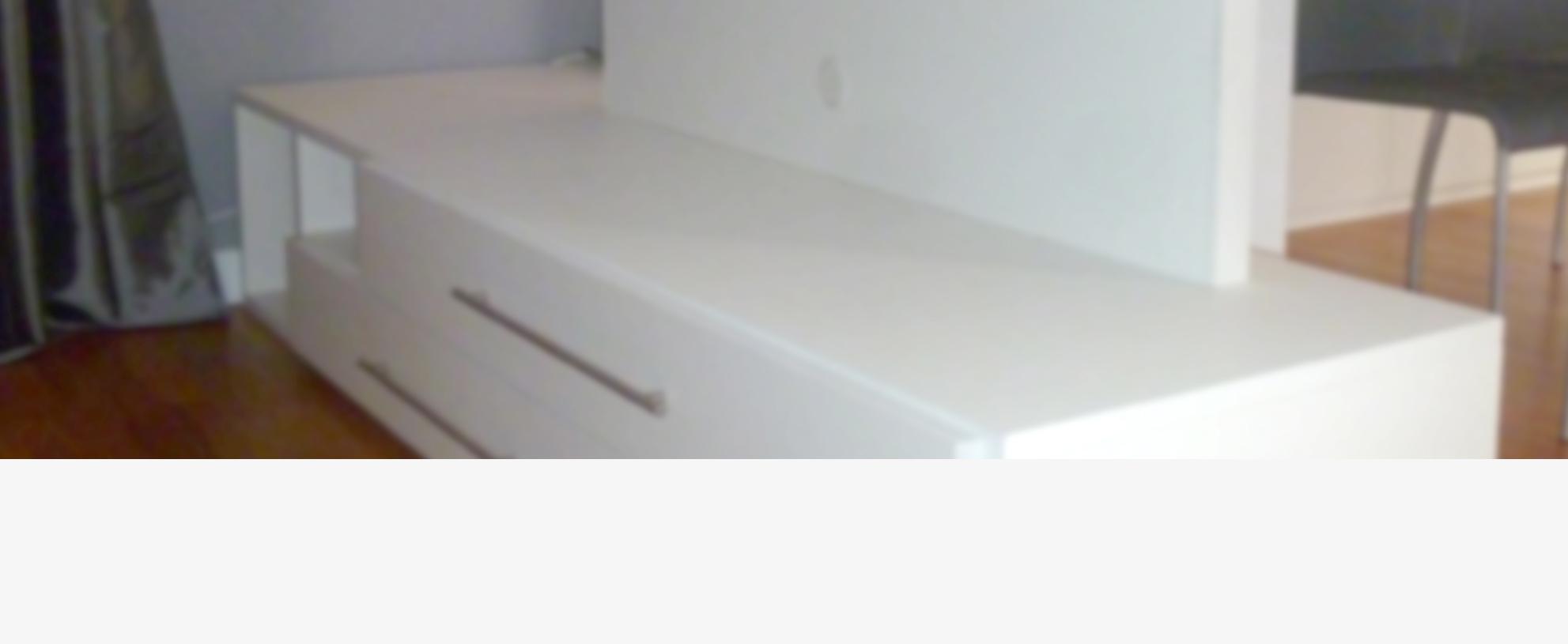 Mobile laccato bianco - Falegnameria Cardini